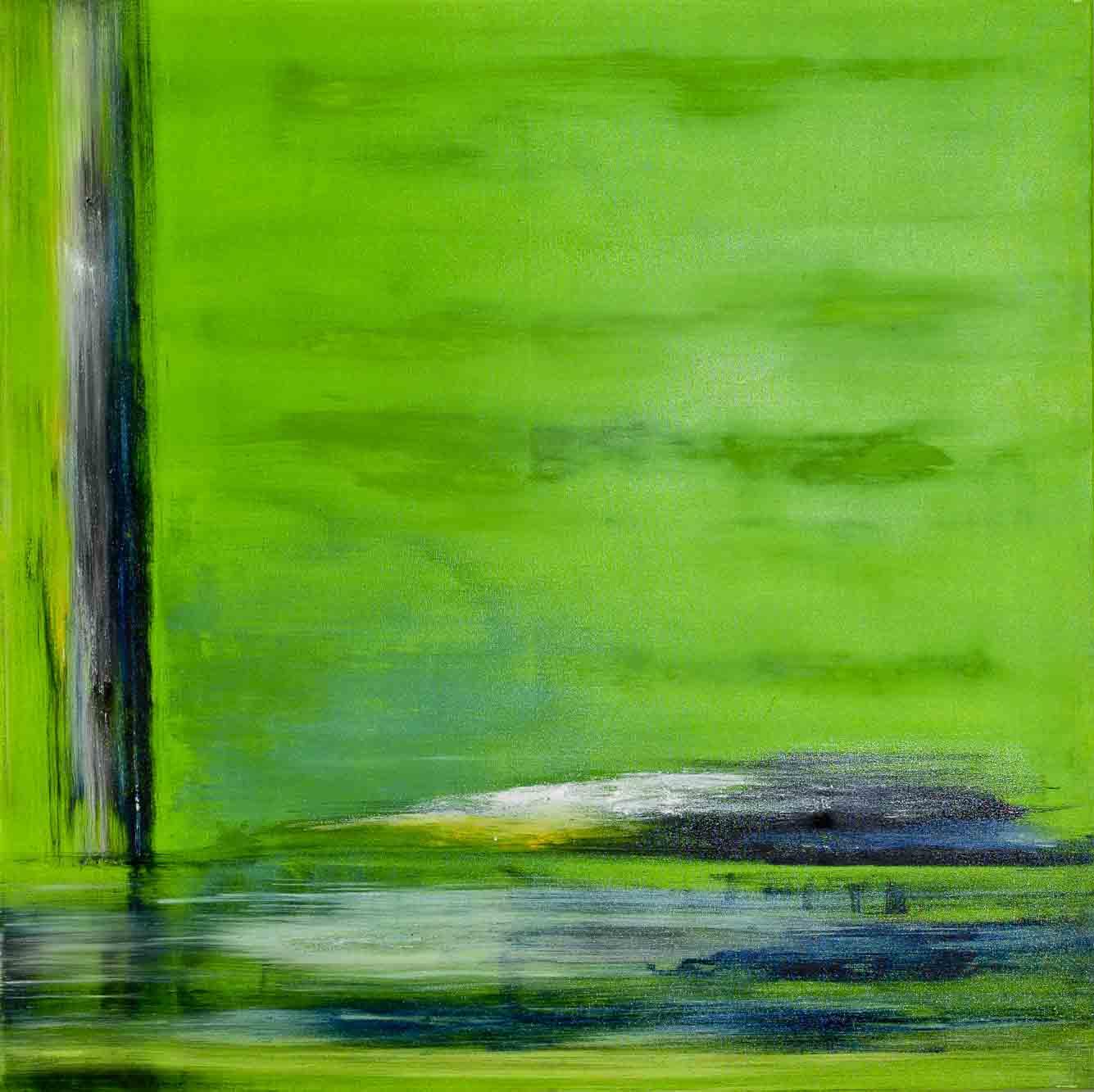 zen in green 100x100 cm